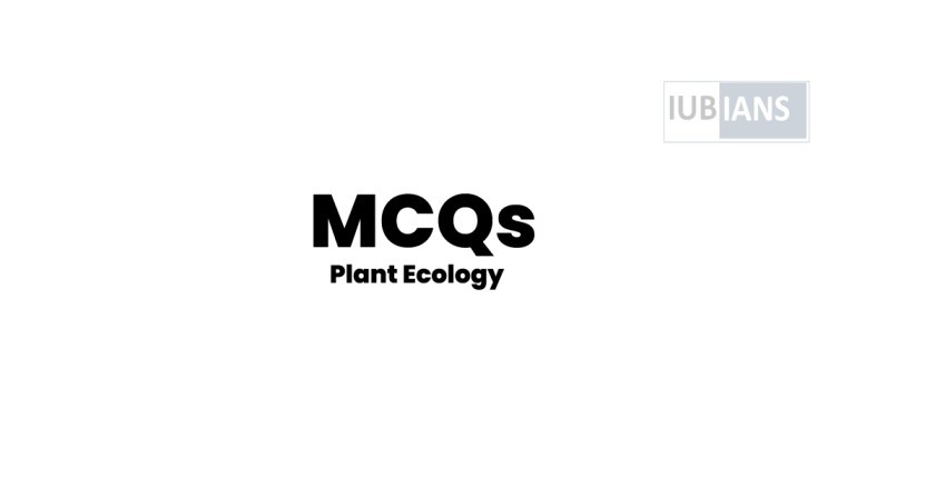 Plant Ecology MCQs