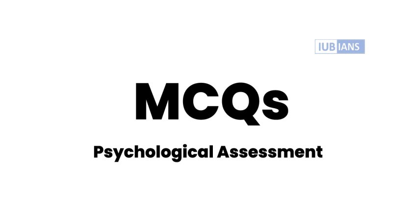 Psychological Assessment (MCQs) for Personality Test