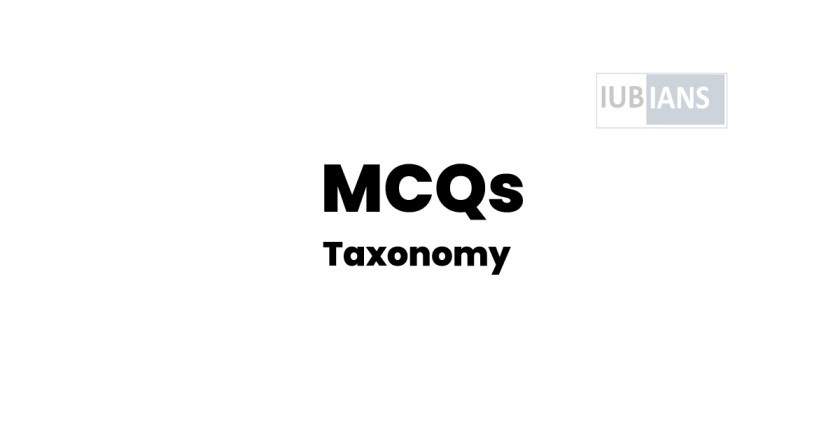 Taxonomy MCQs – Zoology Questions With Answers