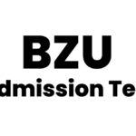 BZU Admission test 2021