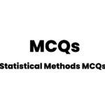 Statistical Methods MCQs Online Solved Quiz
